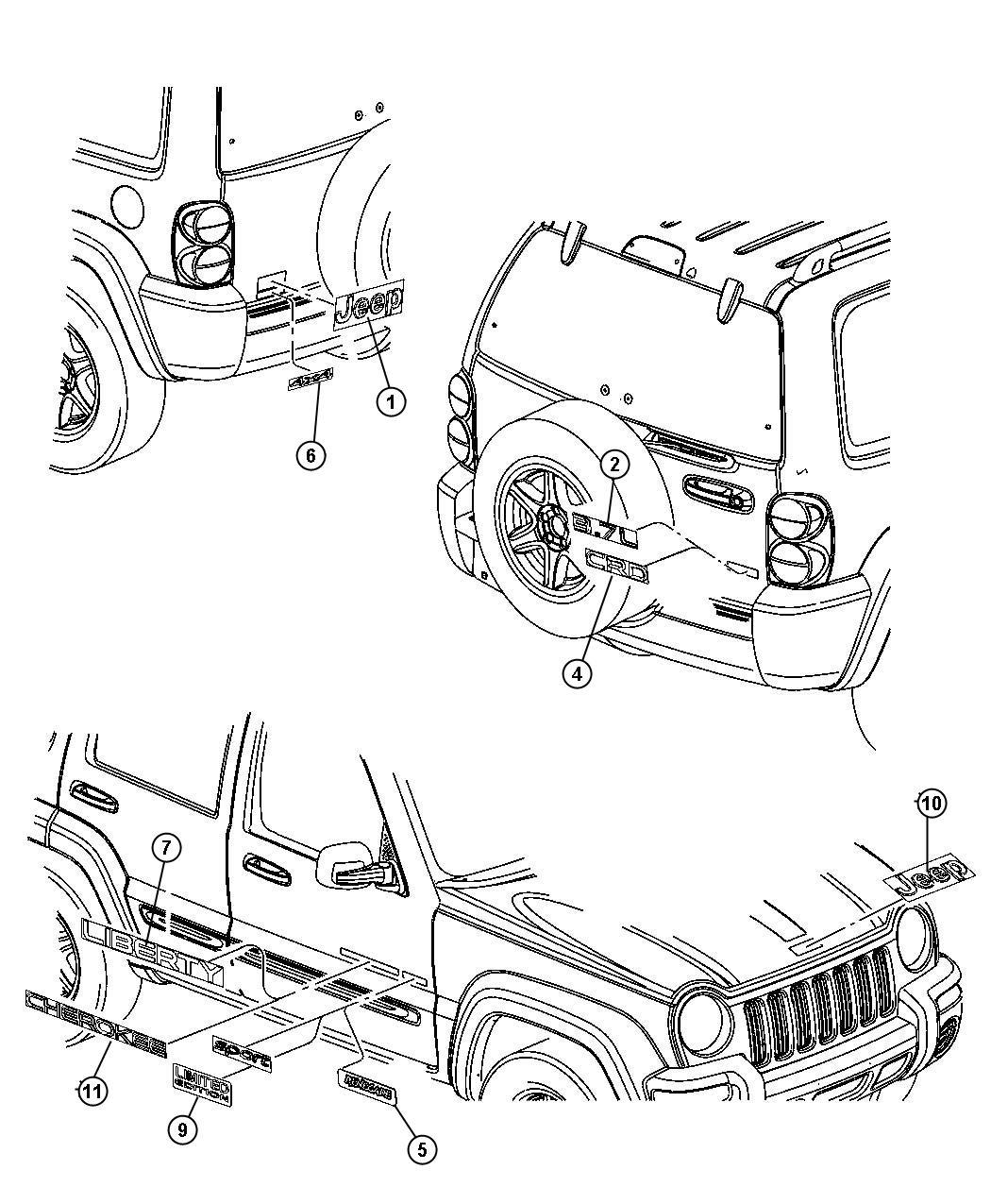 Jeep Liberty Decal Badge