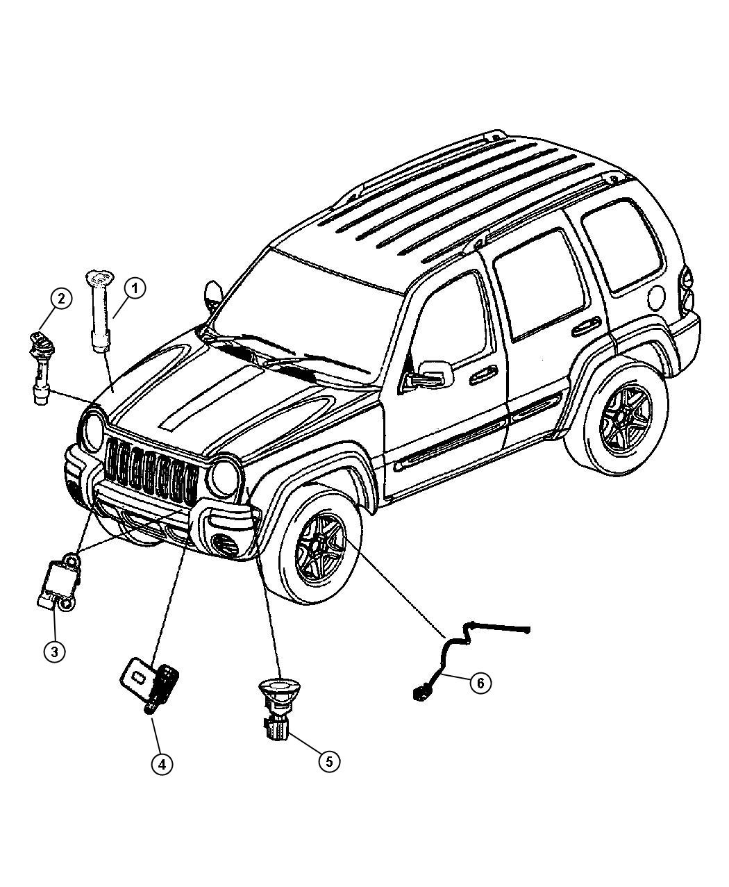 Jeep Liberty Sensor Air Bag Bags Multistage Front