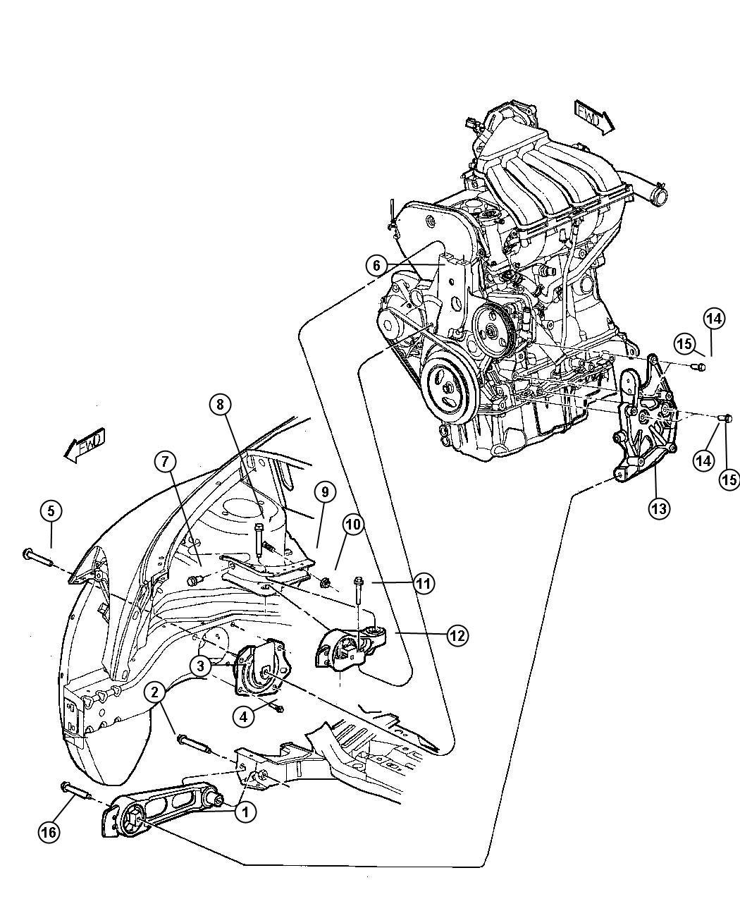 Chrysler Pt Cruiser Isolator Transmission Mount Manual