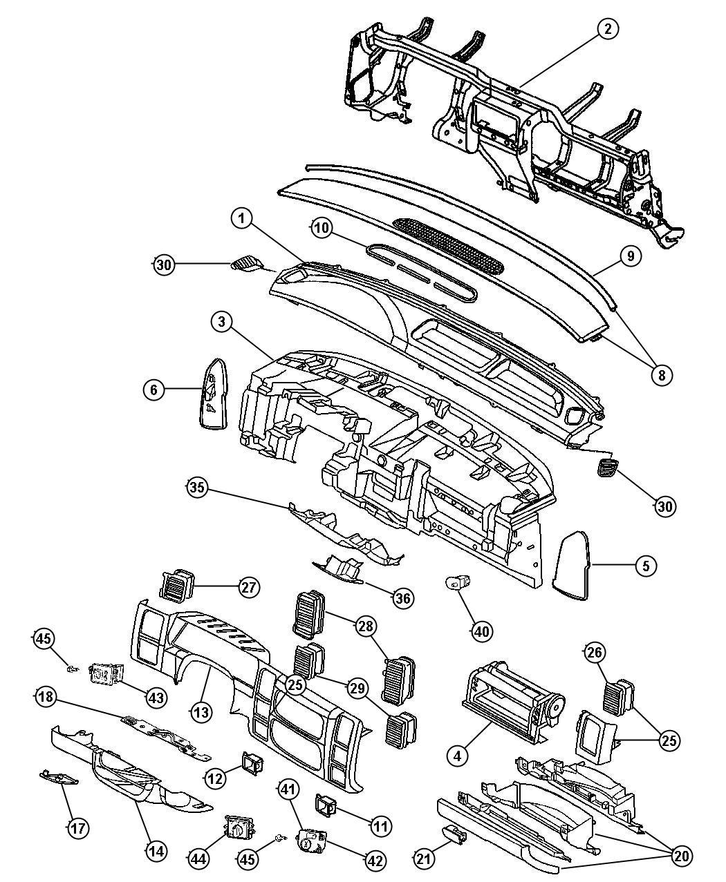 Dodge Durango Handle Parking Brake L5 Trim O0