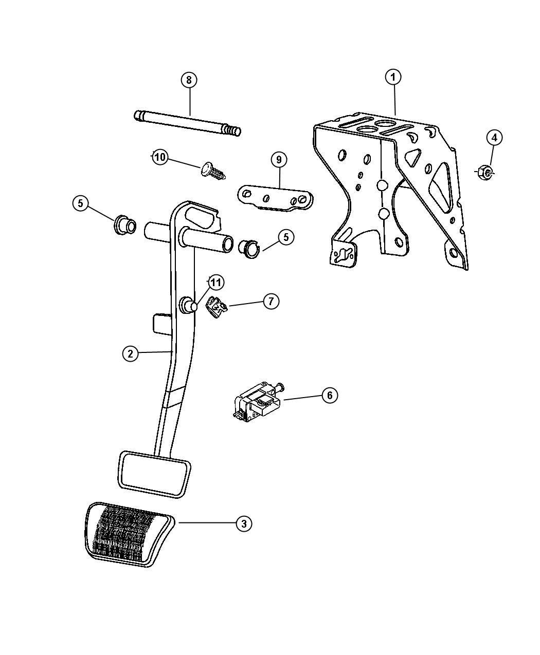Jeep Patriot Bracket Brake Pedal Manual Transmission
