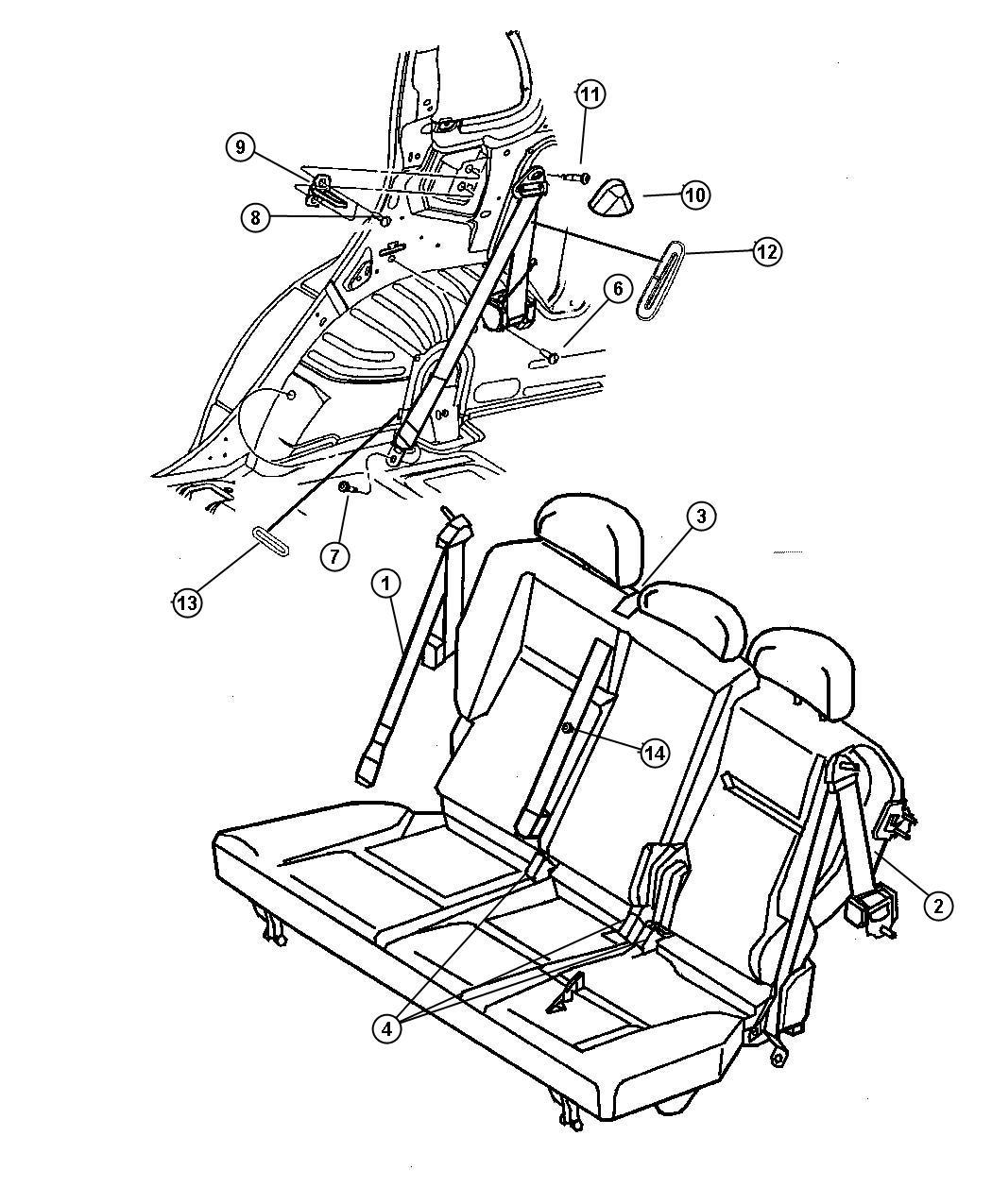 Dodge Ram Seat Belt Buckle Half W Latch