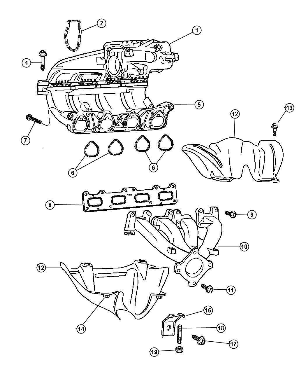 Chrysler Pt Cruiser Manifold Intake