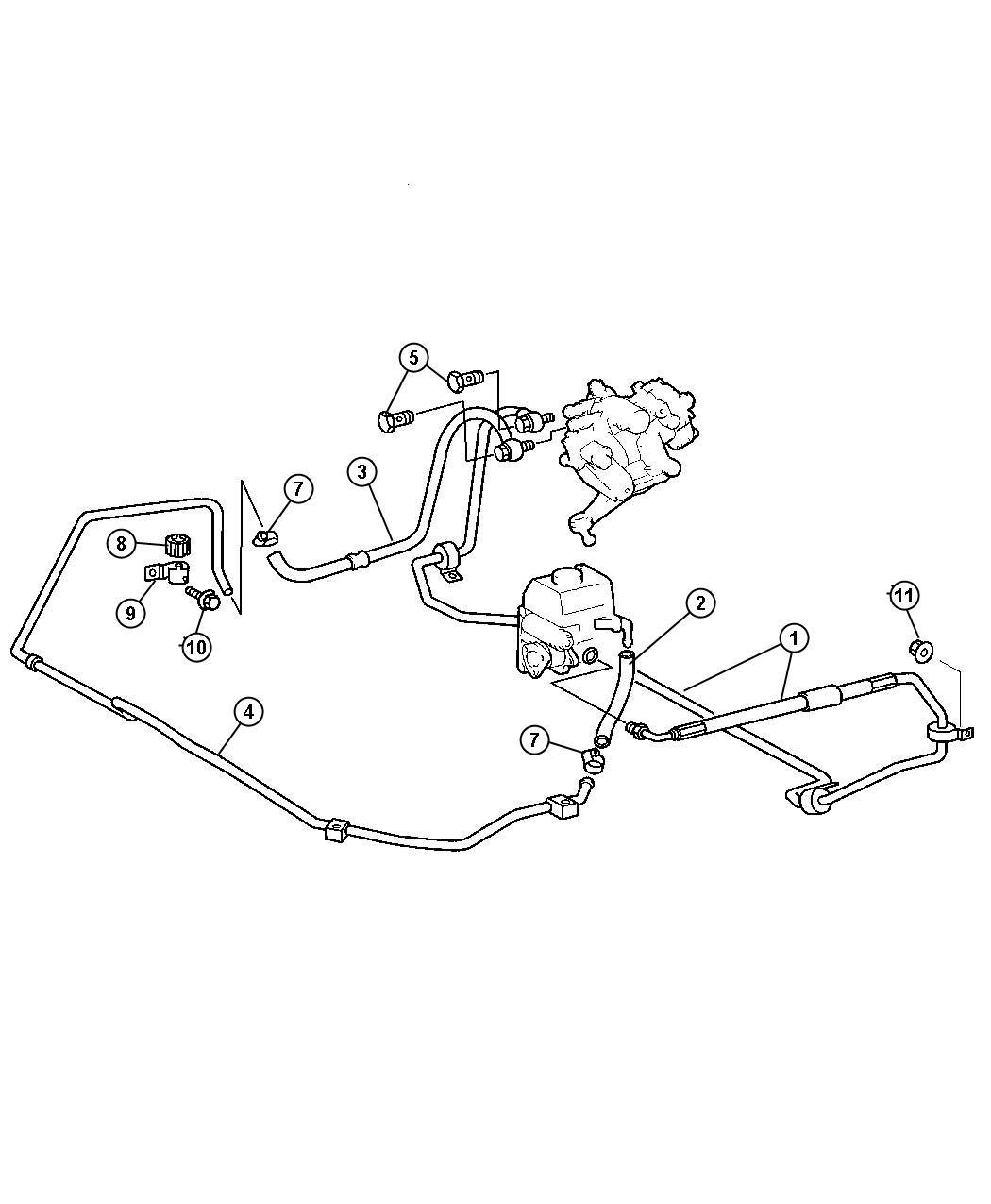 Chrysler Crossfire Line Power Steering Low Pressure