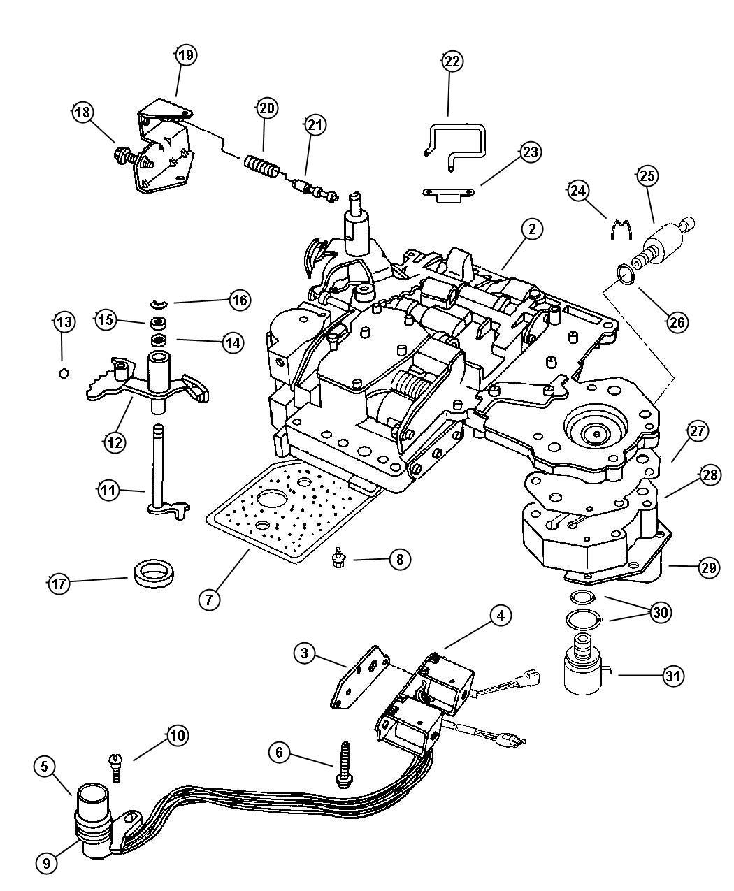 Jeep Liberty Transducer Pressure Sensor 4 Prong