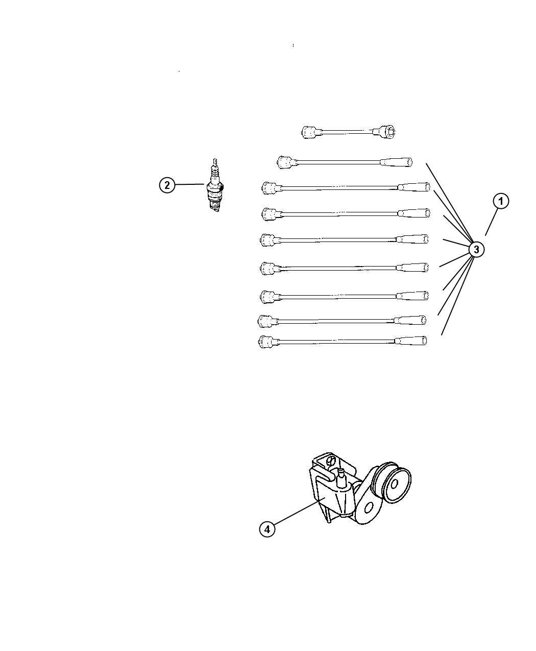 Dodge Ram Spark Plug Plugs Cables Coil