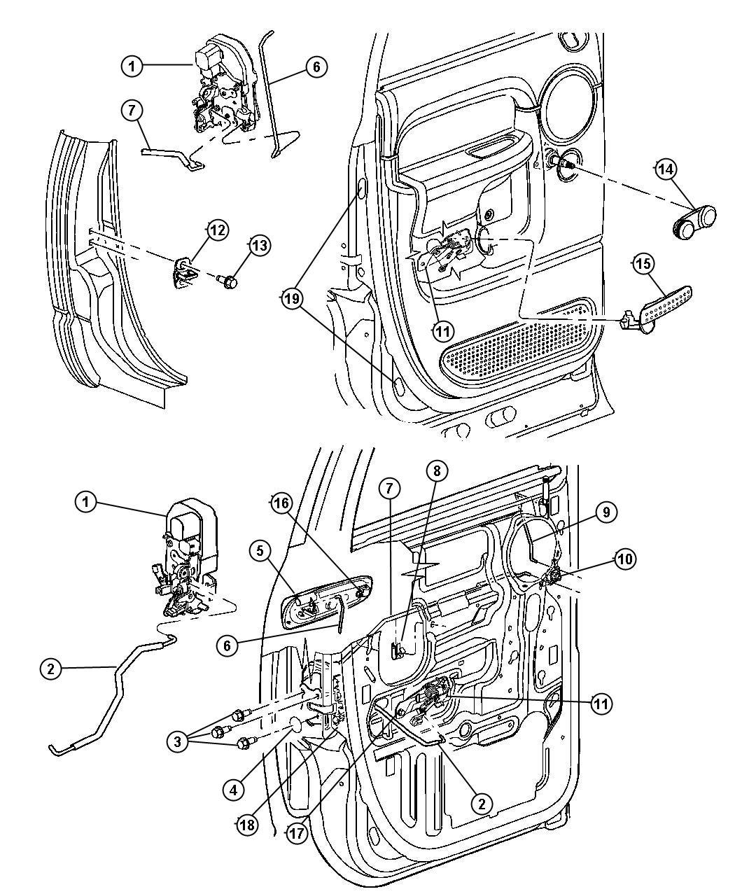 Dodge Ram Latch Rear Door Locks Manual Power