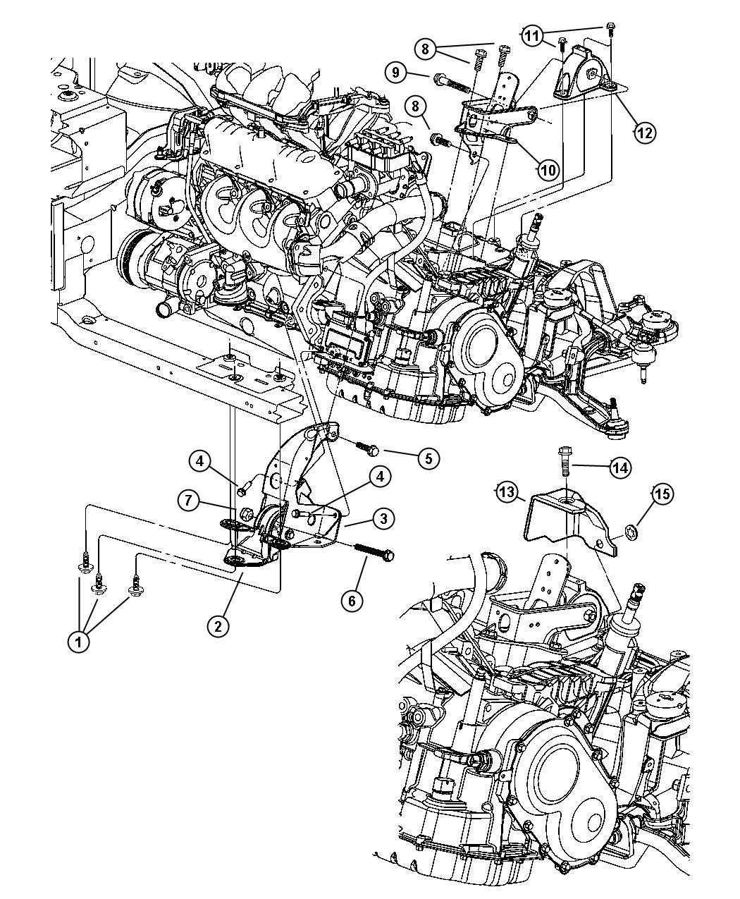 Dodge Grand Caravan Support Engine Mount Front
