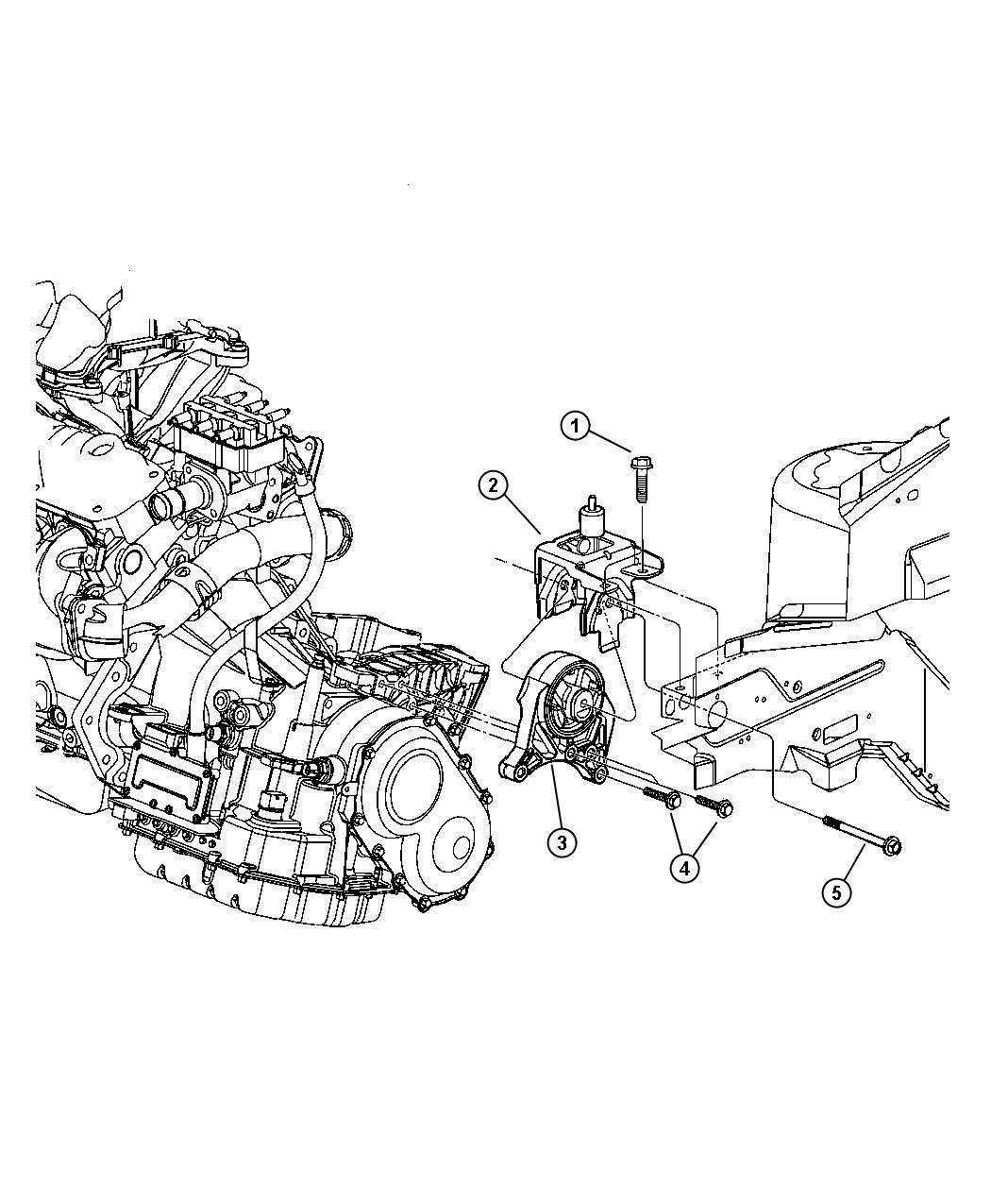 Dodge Grand Caravan Support Engine Mount Left Side