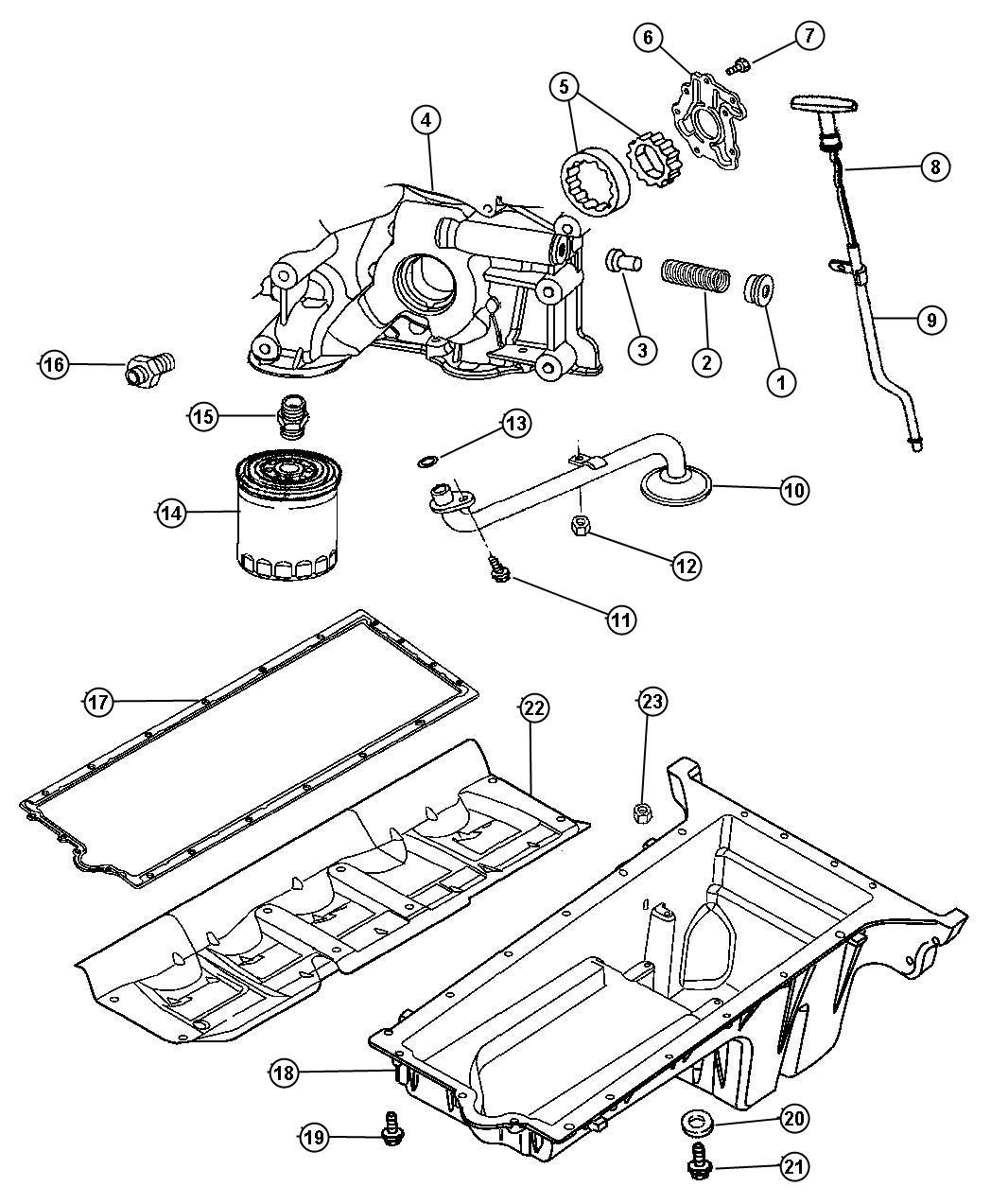 Dodge Ram Pan Engine Oil Oiling Sfi Mopar