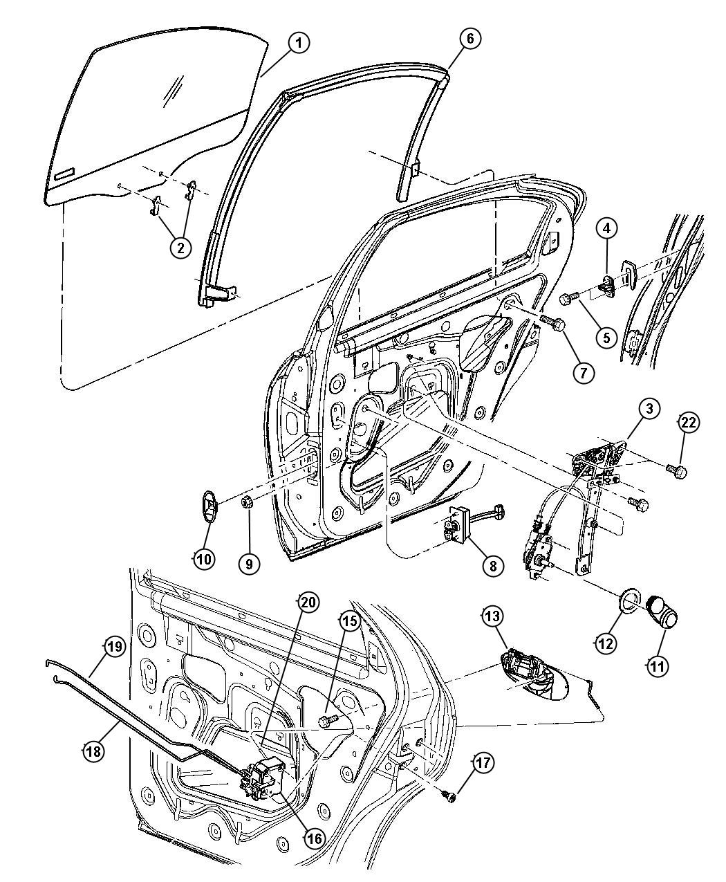 Dodge Avenger Handle Window Regulator Trim All