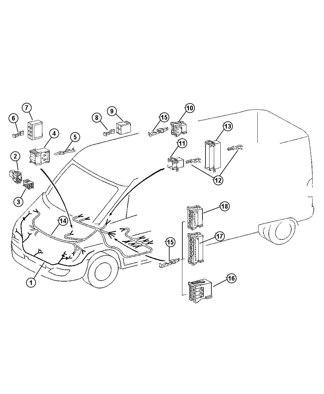 Dodge Journey Insulator 6 Way Male