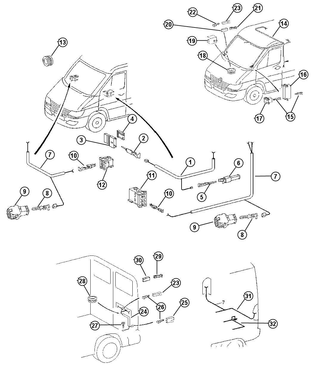 Dodge Sprinter Wiring Rear Door
