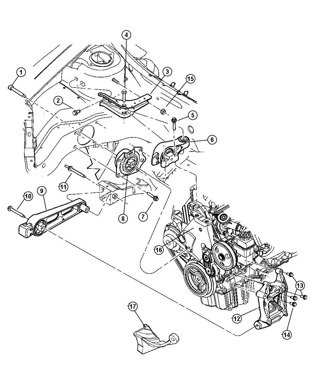 Dodge Ram Isolator Strut Torque Reaction