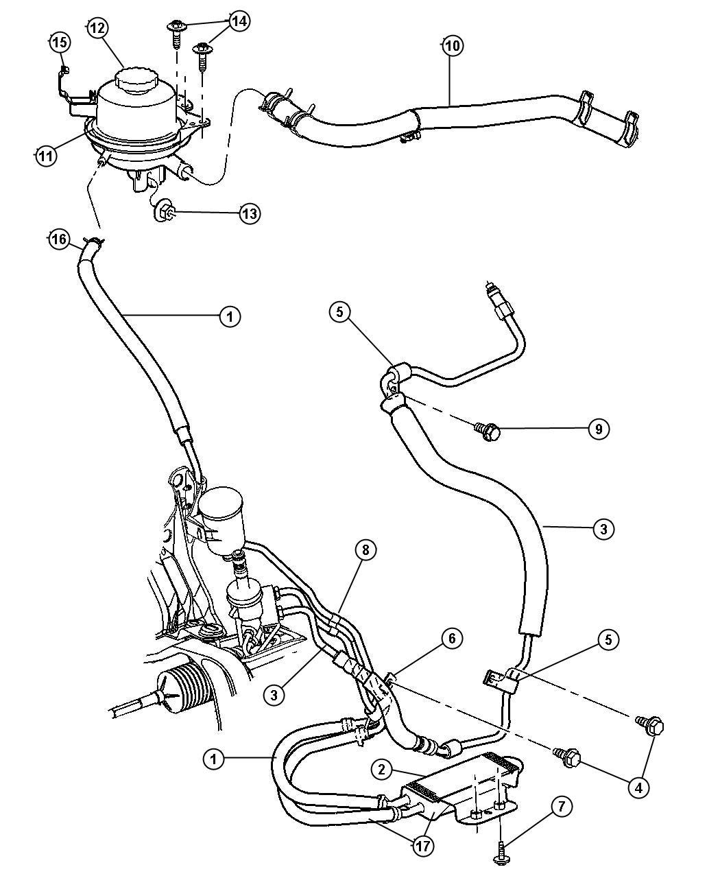 Jeep Grand Cherokee Hose Power Steering Pressure
