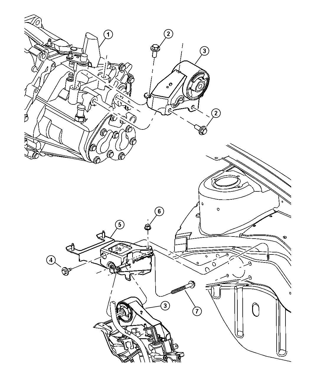 Jeep Compass Support Engine Mount Transmission To