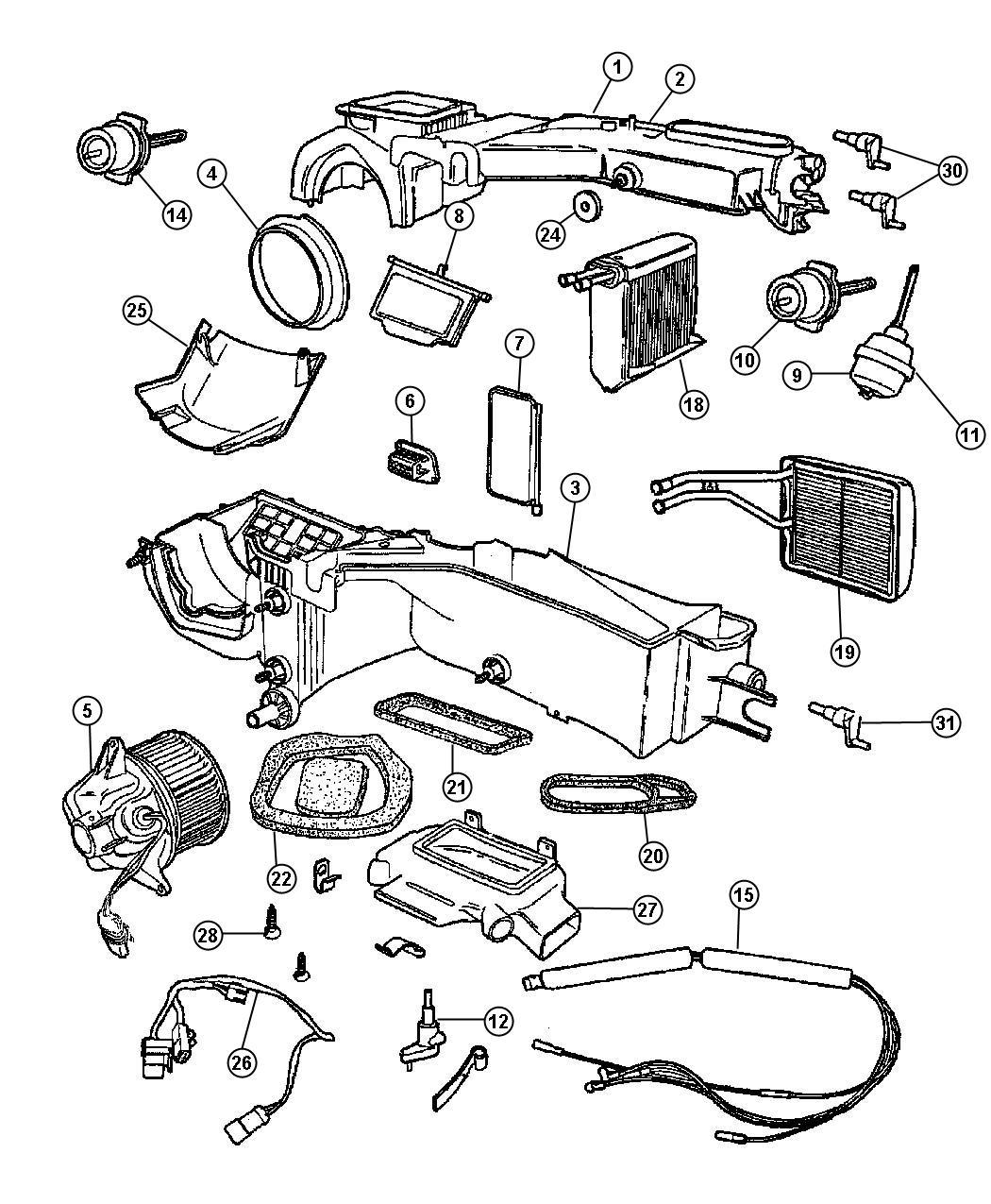 Jeep Cherokee Core Heater Core Heatersel