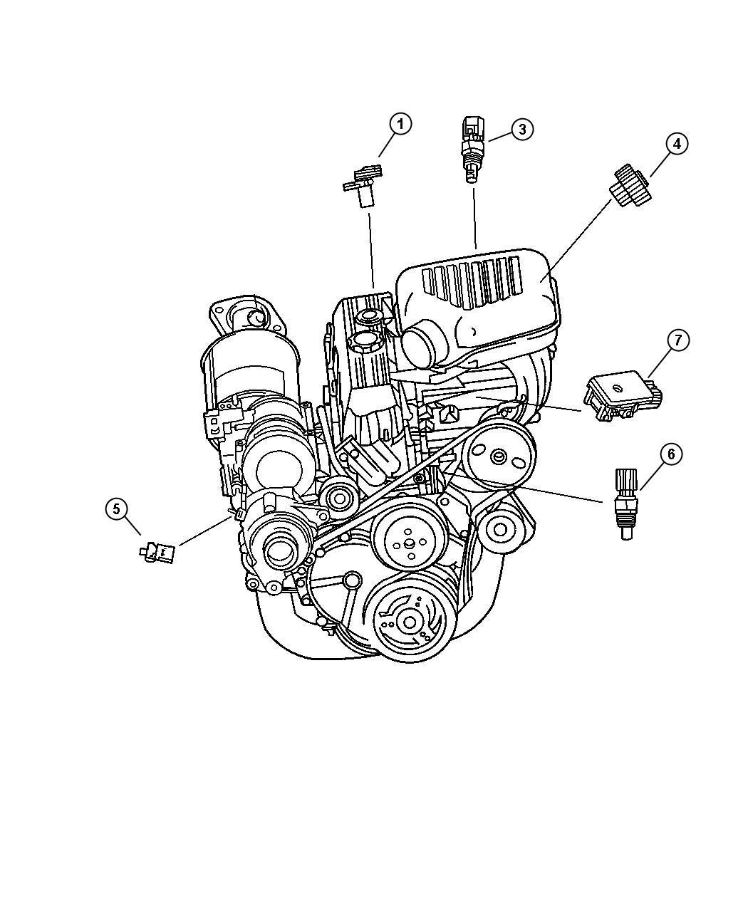 Chrysler Sebring Sensor Camshaft Engine Gas