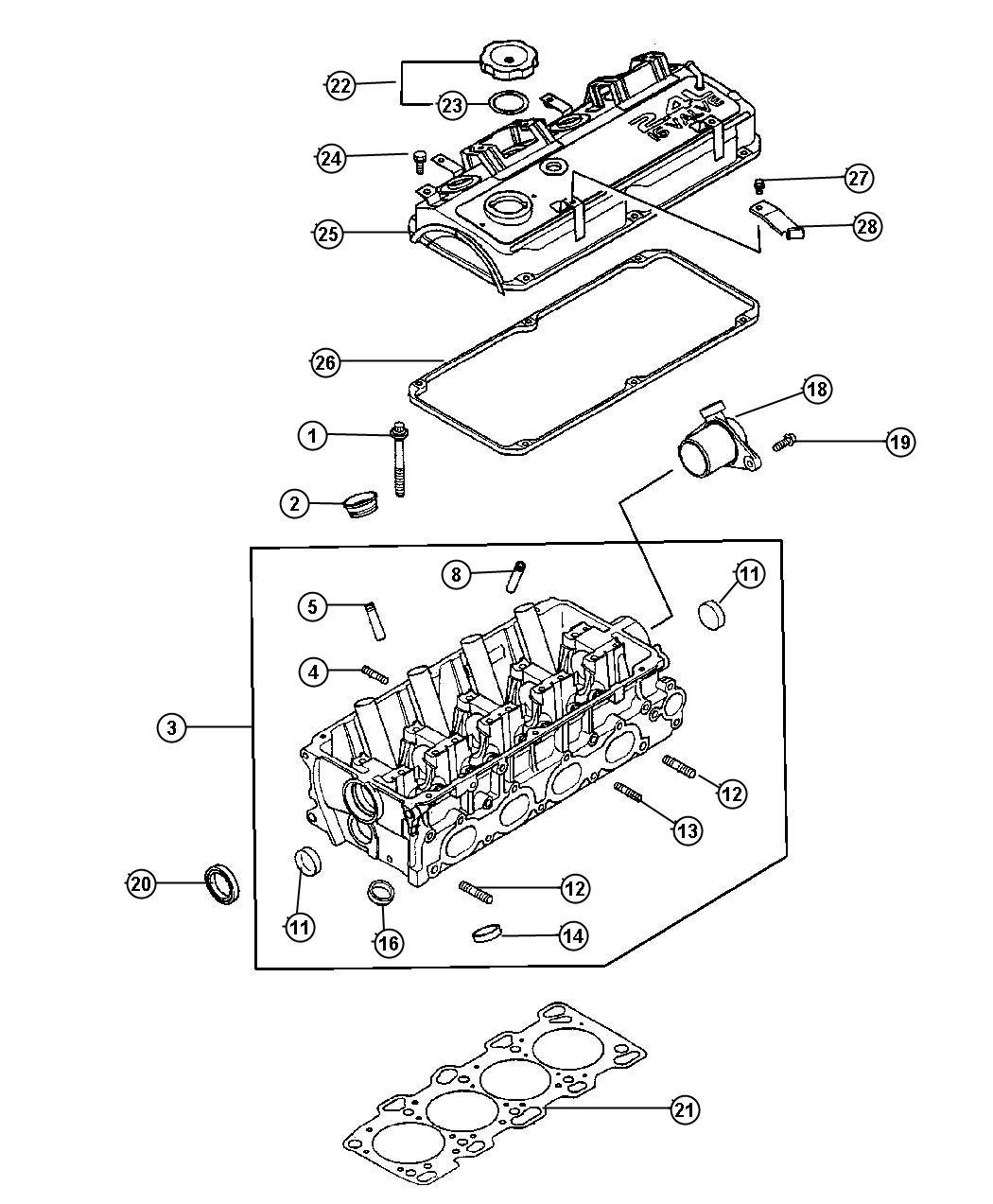 Dodge Charger Cap Oil Filler Head Cylinder Mmc