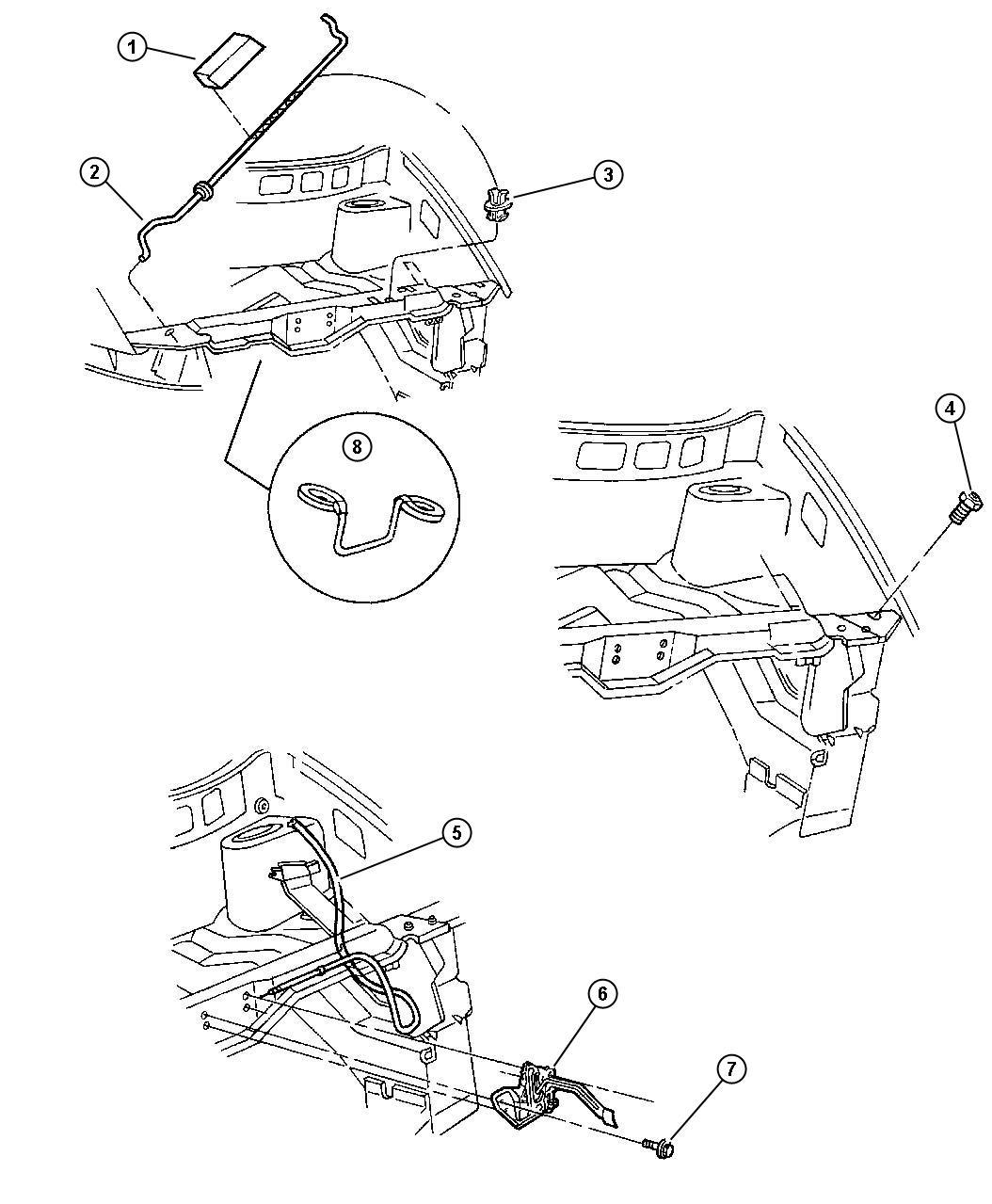 Dodge Ram Latch Hood Group Equipment Release