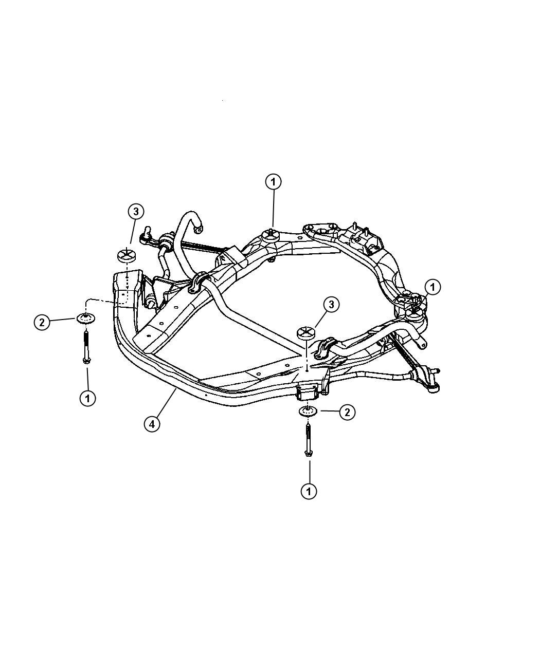 Dodge Intrepid Isolator Cradle Front Enginer