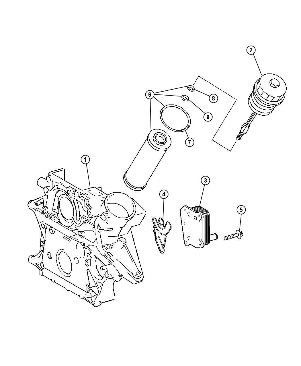 Dodge Sprinter Cooler Oil Oil Water Heat Exchanger