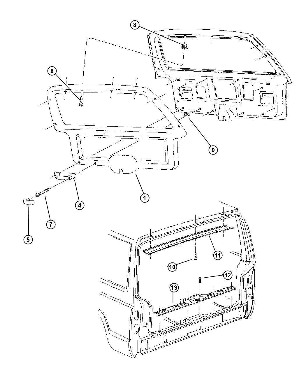Jeep Cherokee Pin Door Panel Trim Seats