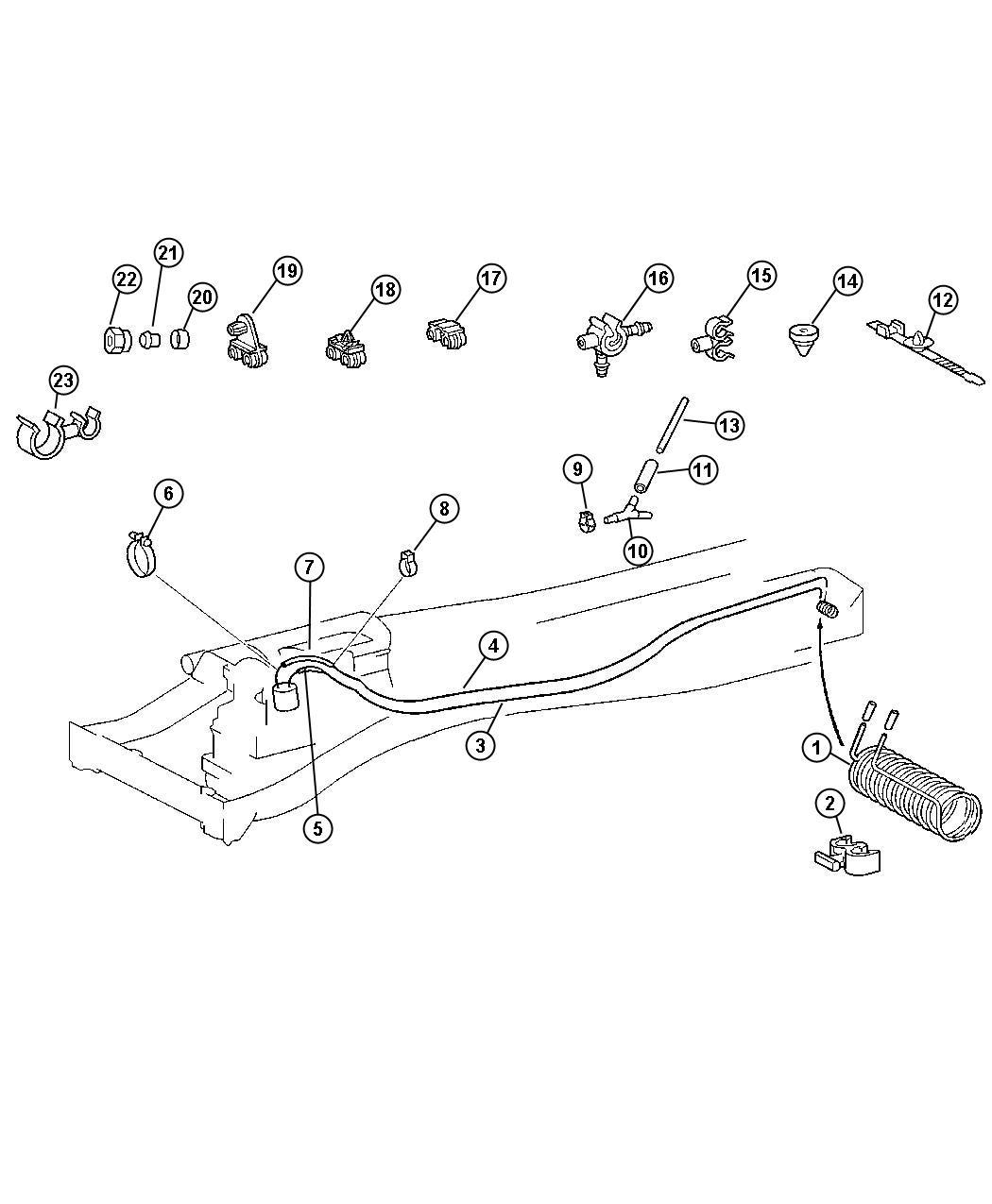 Dodge Sprinter Clip Fuel Line Enginesel