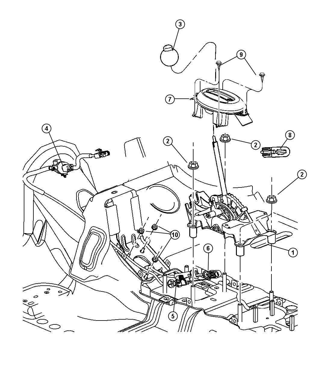 Dodge Grand Caravan Cable Ignition Interlock