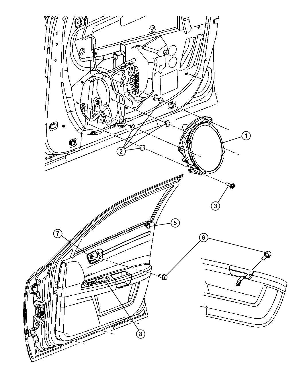 Chrysler 300 Speaker Front Door Speakers Rcg Rcd
