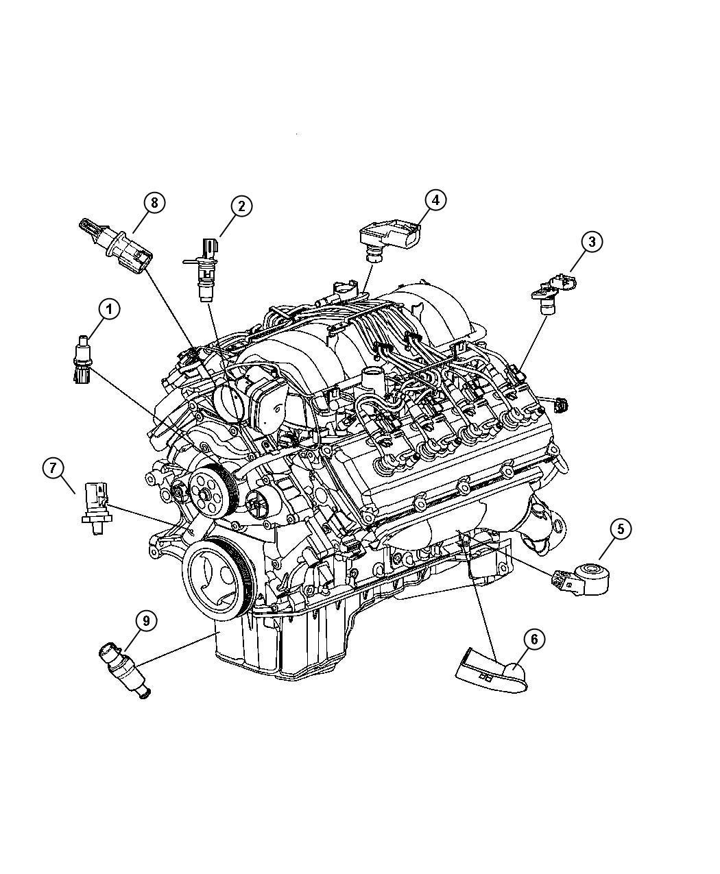 Dodge Challenger Sensor Crankshaft Position Engine