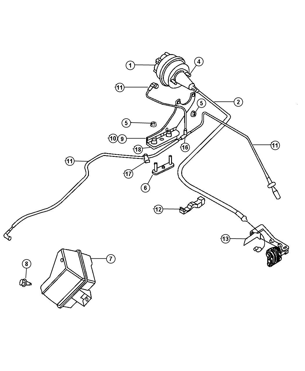 Chrysler Pt Cruiser Reservoir Speed Control Vacuum