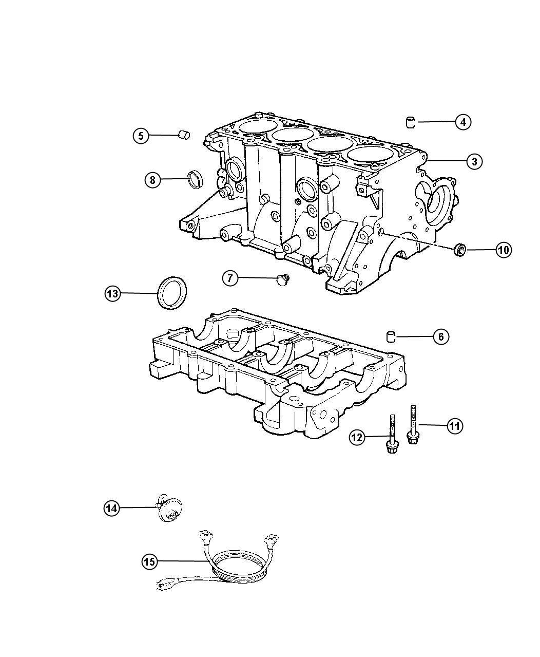 Dodge Ram Gasket Package Engine Lower Block