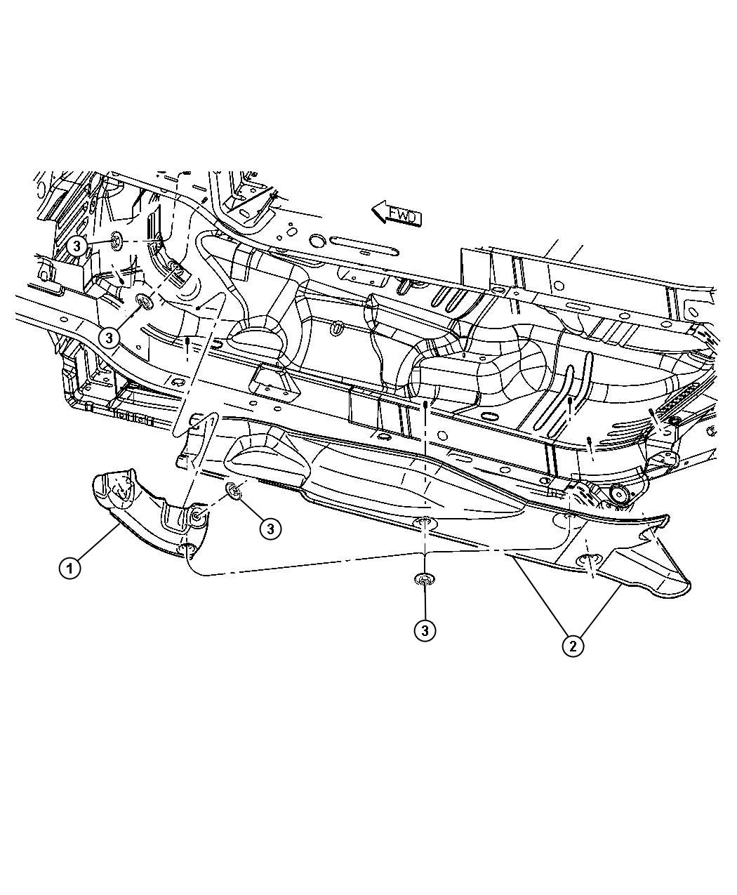 Chrysler Pt Cruiser Shield Exhaust Floor Pan