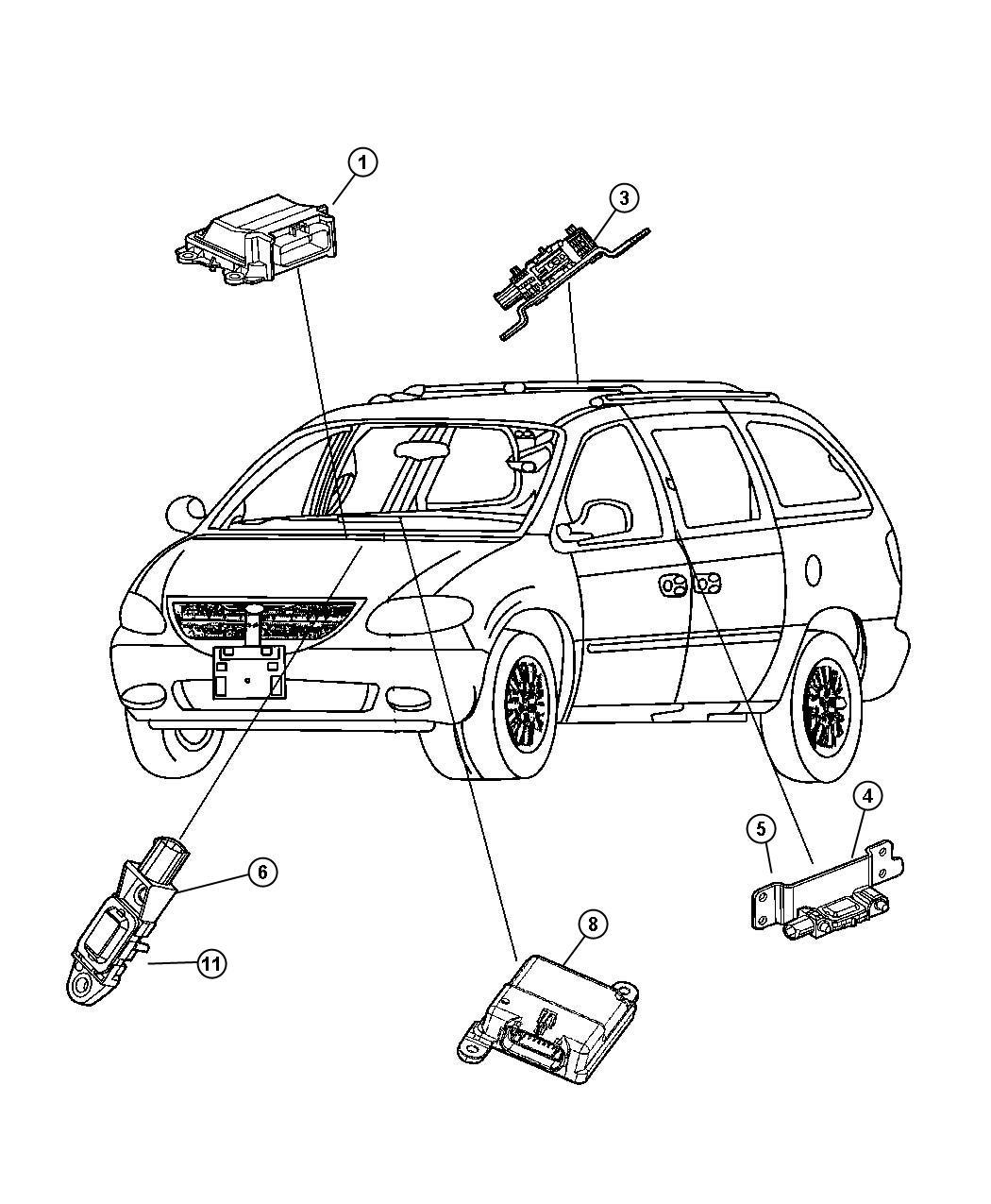 Chrysler Town Amp Country Sensor Kit Impact Front Air