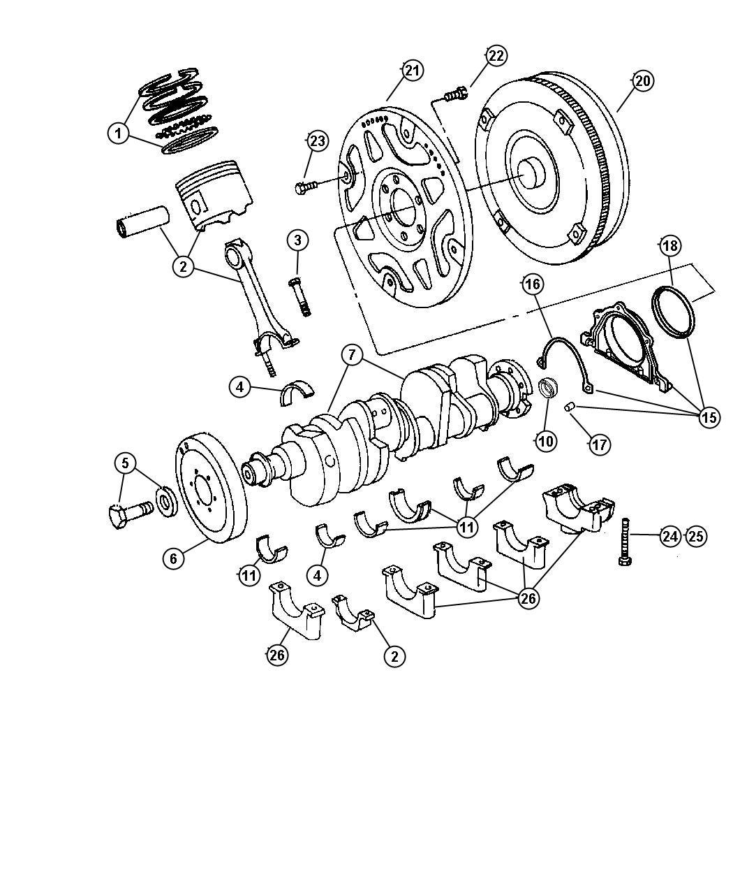 Chrysler 300 Damper Crankshaft Engine Electrical