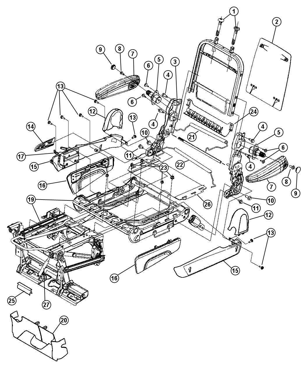 Dodge Grand Caravan Kit Trim Seats