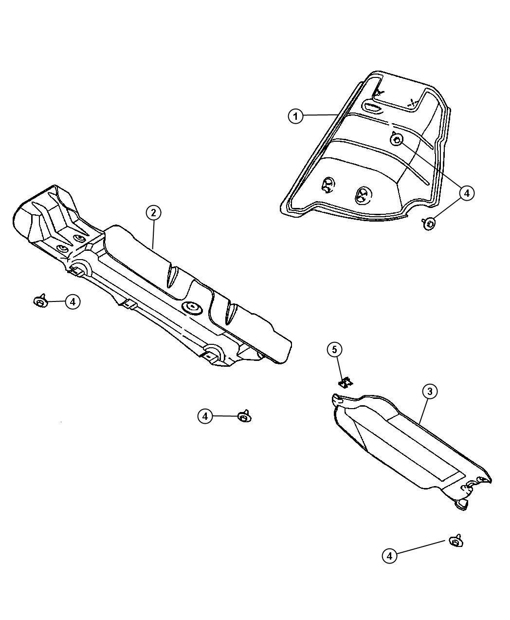 Dodge Grand Caravan Shield Exhaust Heat Muffler