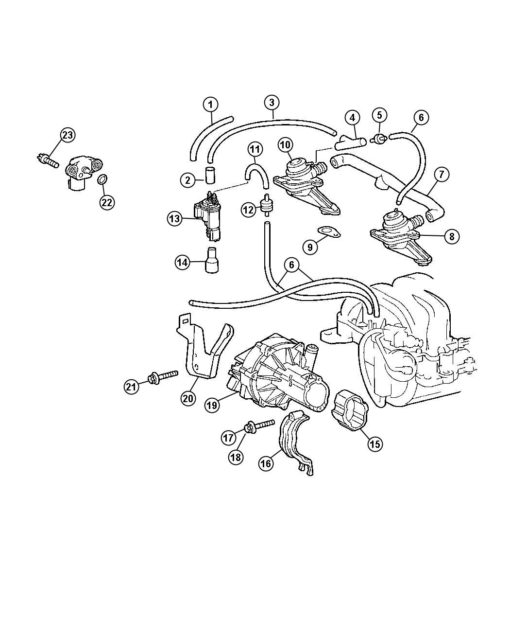 Chrysler 300 Bracket Air Pump Without Engine