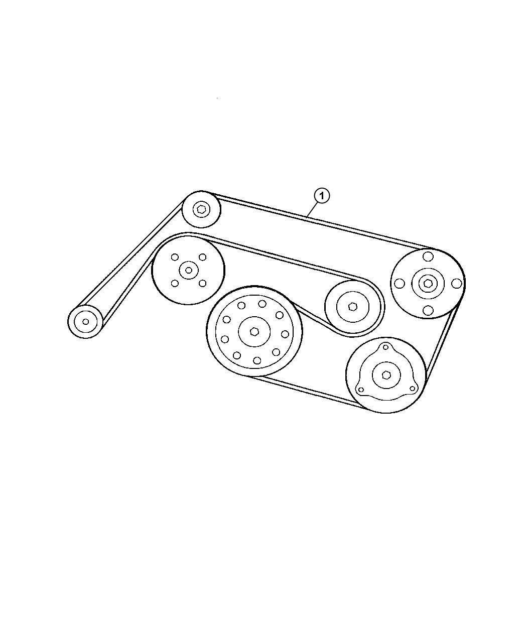 Chrysler Crossfire Belt Accessory Drive 3 2l V6