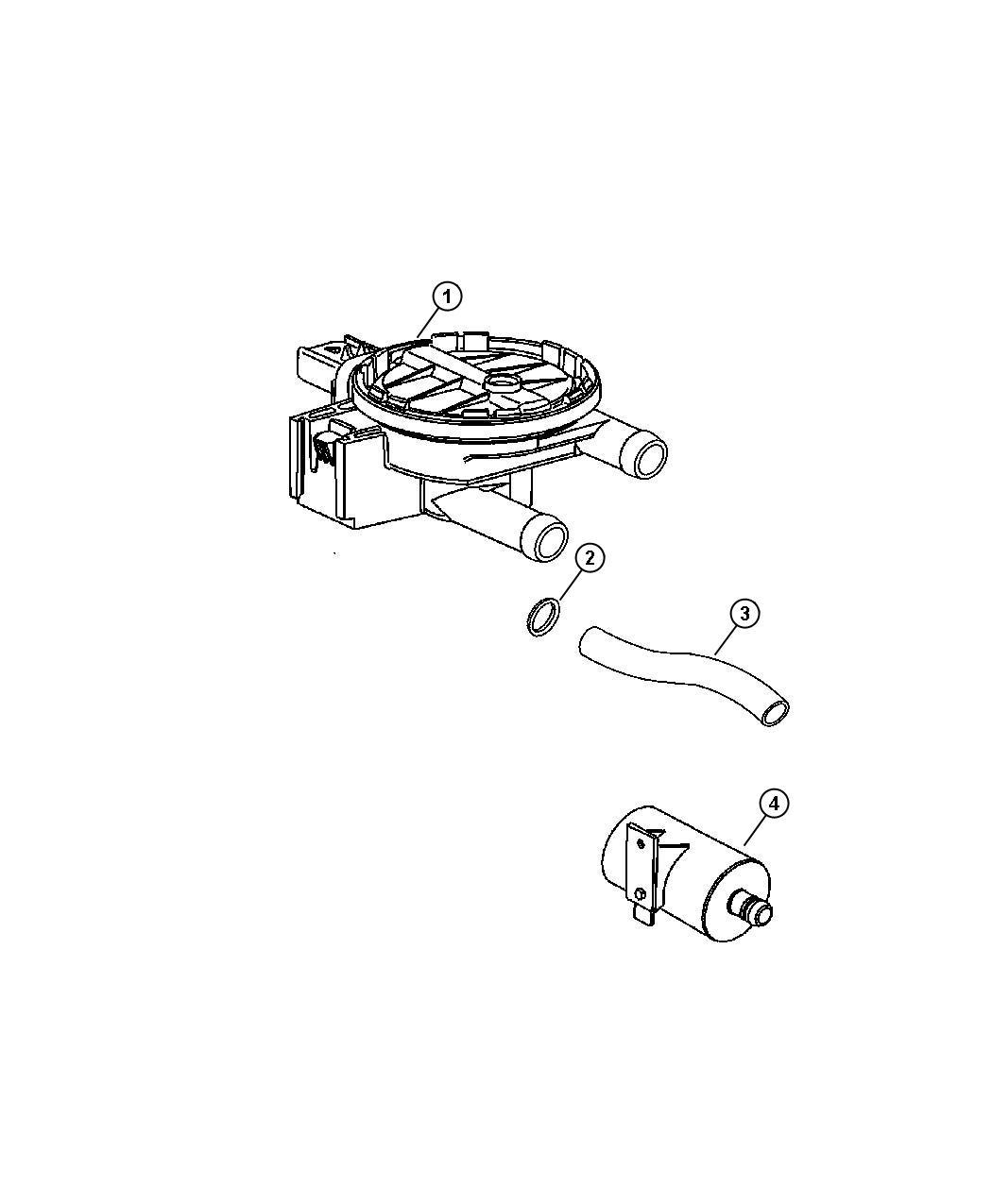 Dodge Detector Natural Vacuum Leak Detection Pump