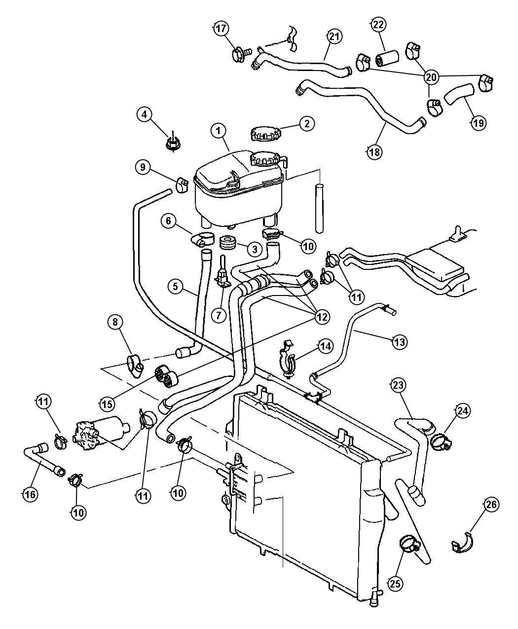 Dodge Caliber Hose Charge Air Cooler