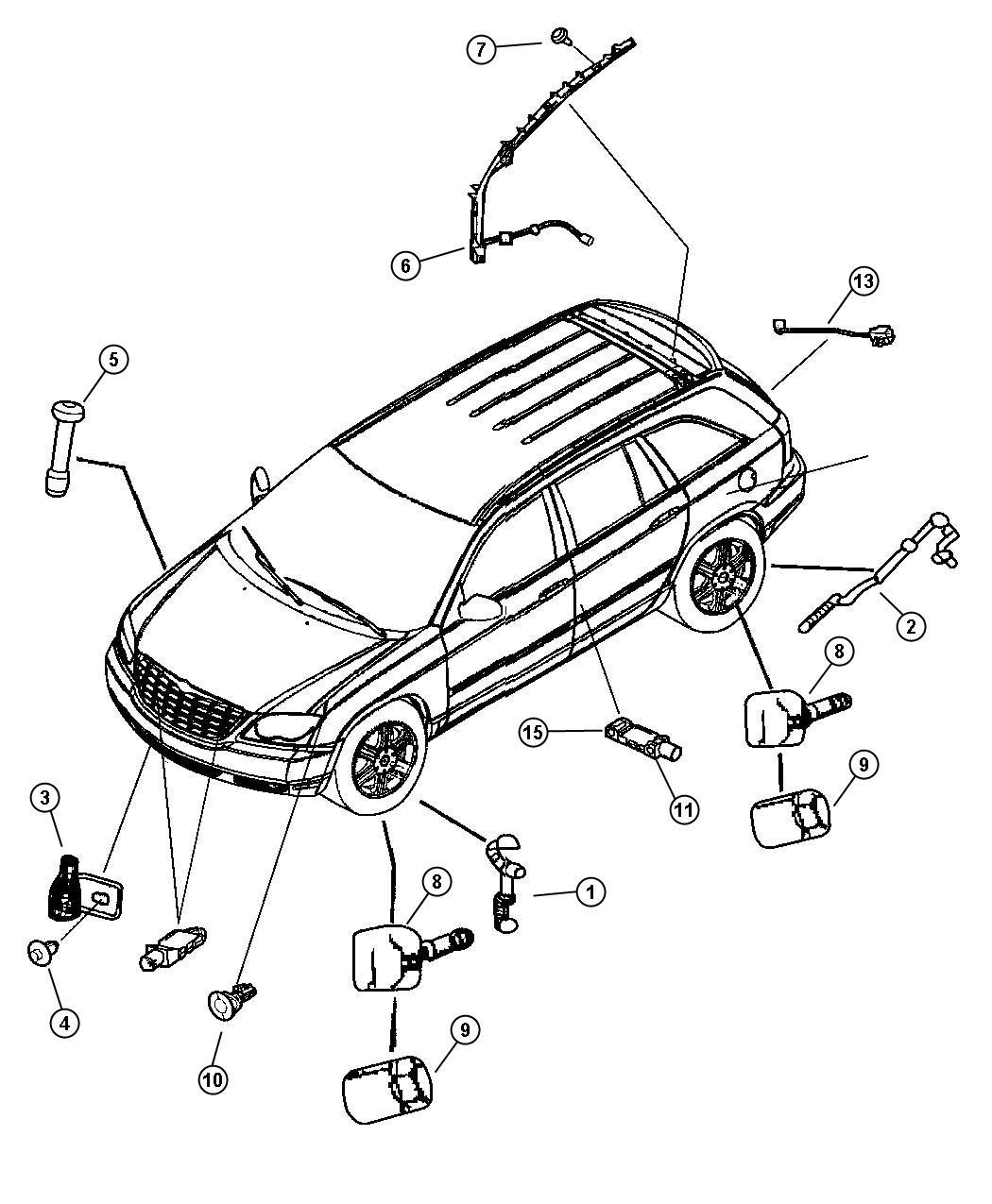 Chrysler Pacifica Sensor Air Bag Impact Side