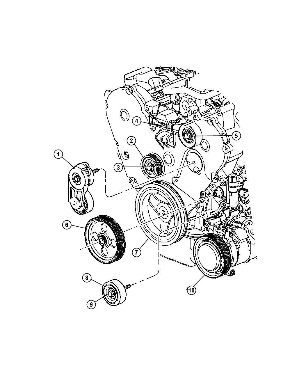 Dodge Ram Pulley Power Steering Pump