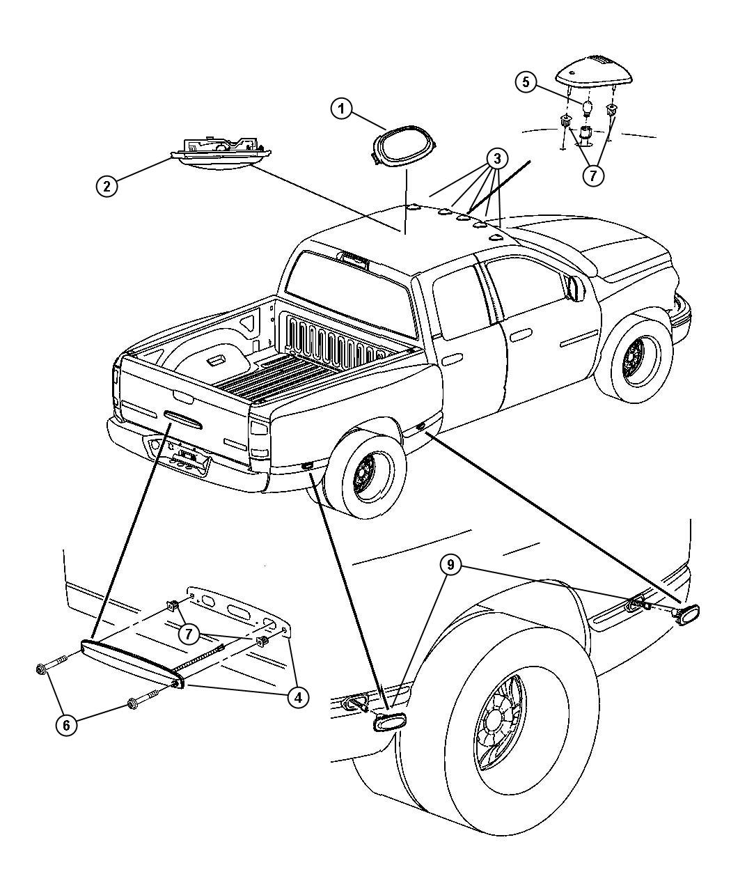 Dodge Ram Lamp Dome Trim All Trim Codes