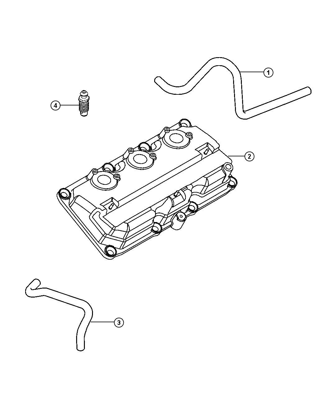 Chrysler Pacifica Hose Positive Crankcase Ventilation