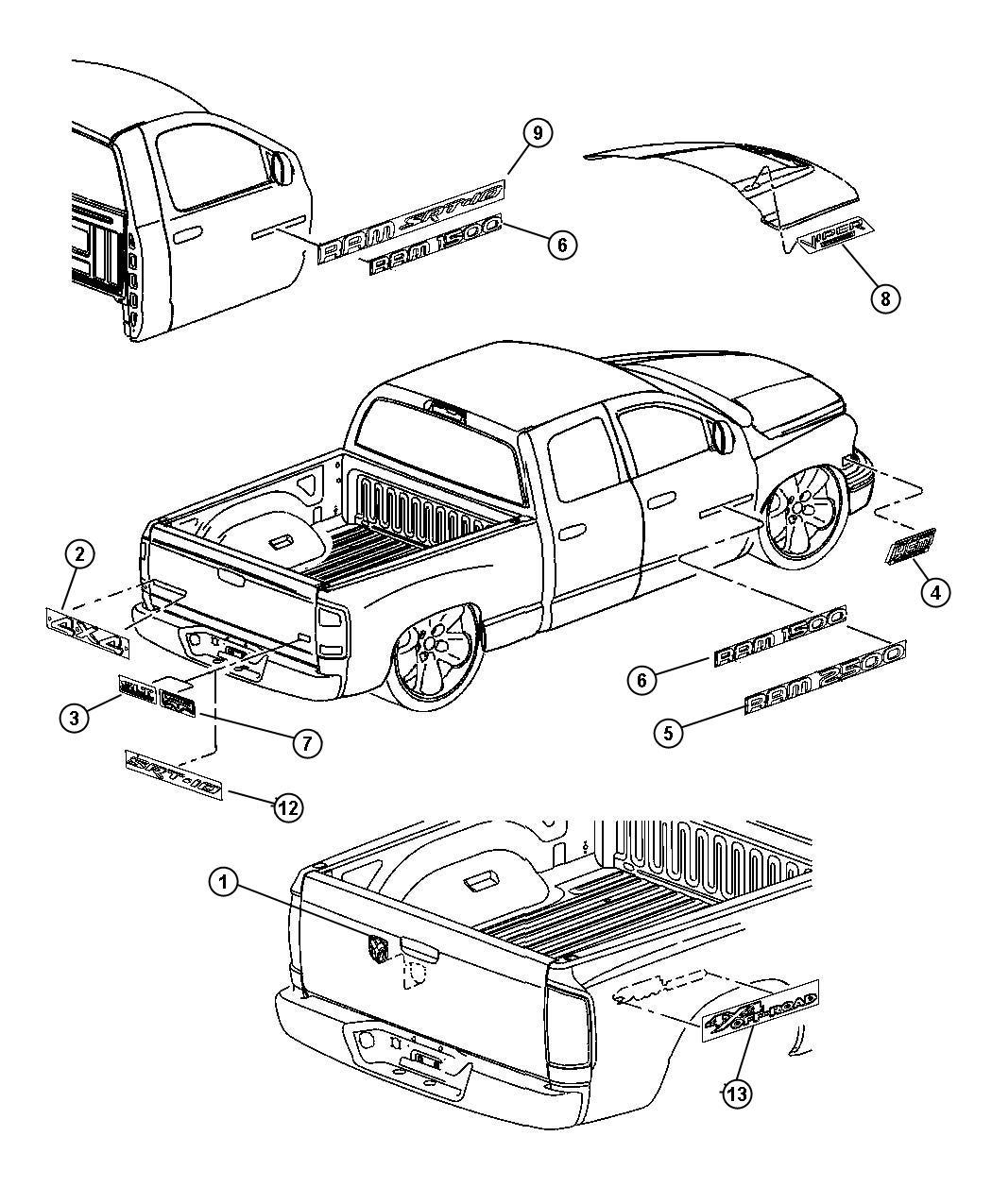 Jeep Wrangler Decal Kit Body Thunderroad Hemi