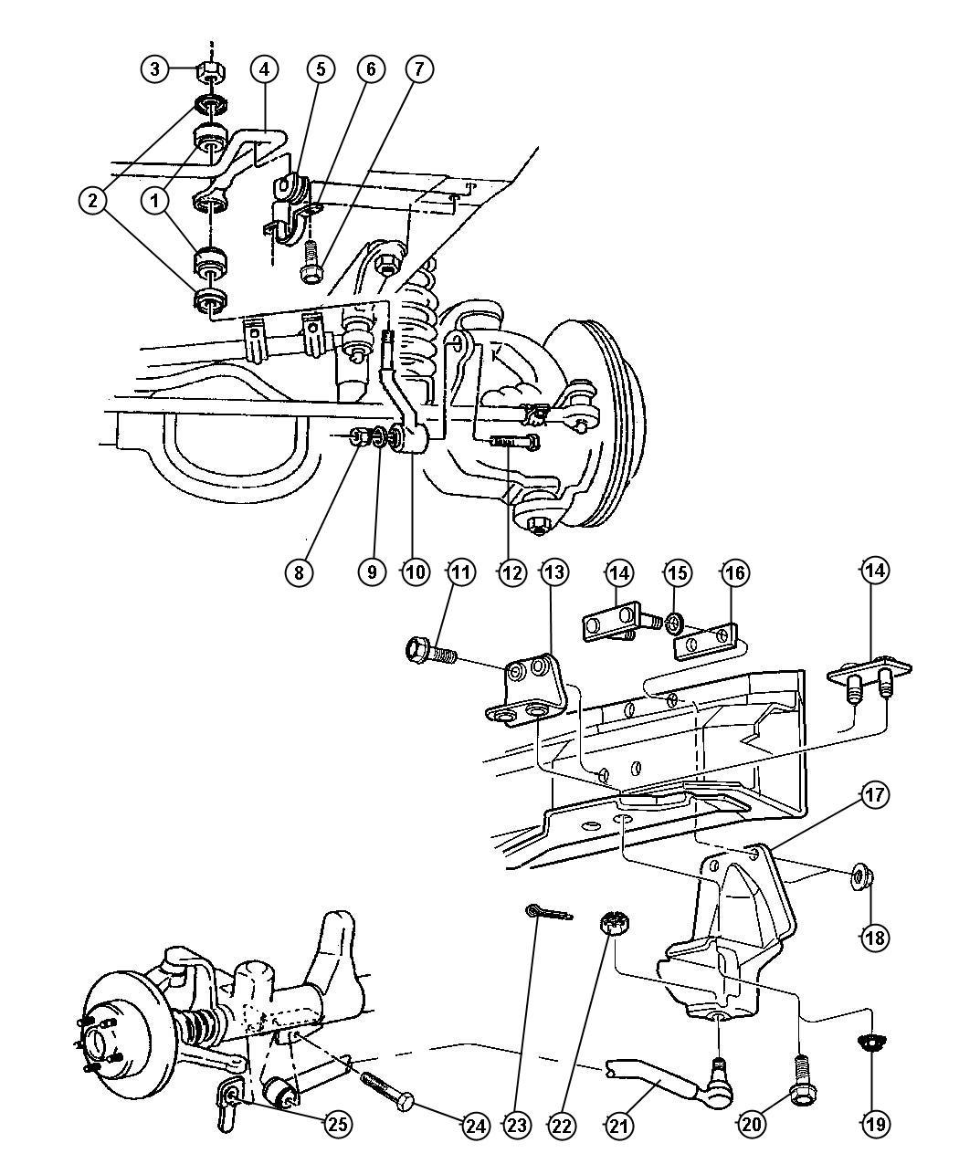 Dodge Ram Bar Track Front Stabilizer