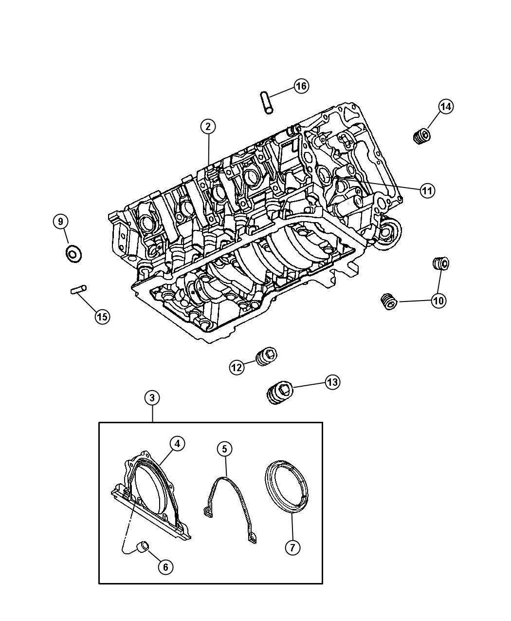 Dodge Charger Engine Long Block Remanufactured Egr Cylinder Valve