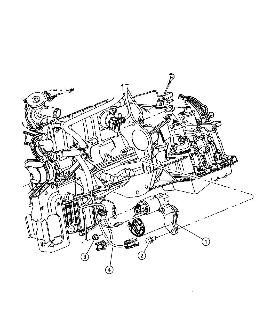 Dodge Grand Caravan Starter Engine Remanufactured